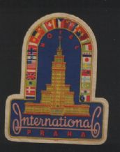 Collectable hotel label luggage baggage Czechoslovakia #074